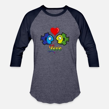 Gay Fish Love Gay - Baseball T-Shirt