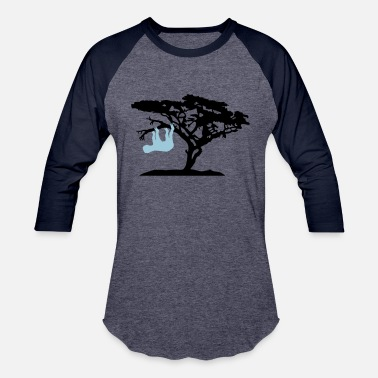 Asta africa silhouette tree bough head over sloth relax - Unisex Baseball T-Shirt