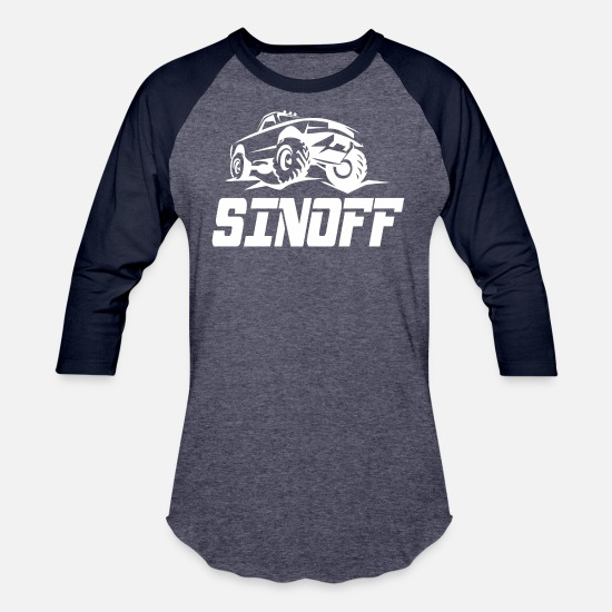 Big T-Shirts - Sinoff offroad - Unisex Baseball T-Shirt heather blue/navy