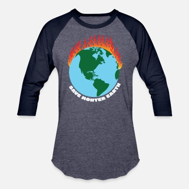 Burning Mother Earth burning - Unisex Baseball T-Shirt