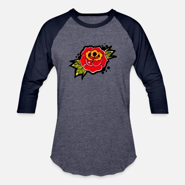 Vintage Rose Tattoo Vintage Rose Tattoo - Baseball T-Shirt