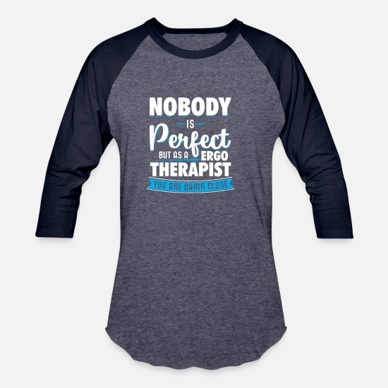 Gift Idea T-Shirts - ergo therapist occupational therapie - Unisex Baseball T-Shirt heather blue/navy