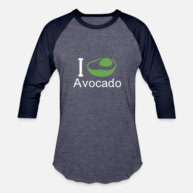 I Love I love Avocado - Unisex Baseball T-Shirt
