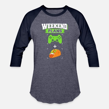 Mexican Green Funny Gaming Tacos Weekend Plans Gamer Mexican Foodie Green - Baseball T-Shirt