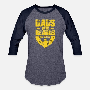 Dad With Beard Dad Beard Gifts Dad Beard Apparel Dads with - Baseball T-Shirt