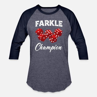 Craps Dice Farkle Champion Red Dice Craps Funny Dice Game - Baseball T-Shirt