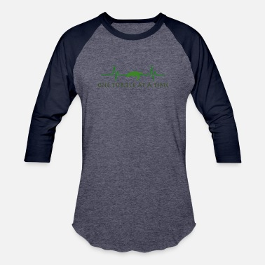 One Turtle At A Time - Baseball T-Shirt