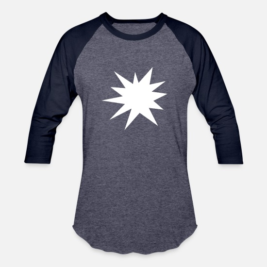 Explosion T-Shirts - explosion - Unisex Baseball T-Shirt heather blue/navy