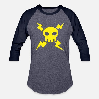 Bolts lightning skull - Unisex Baseball T-Shirt