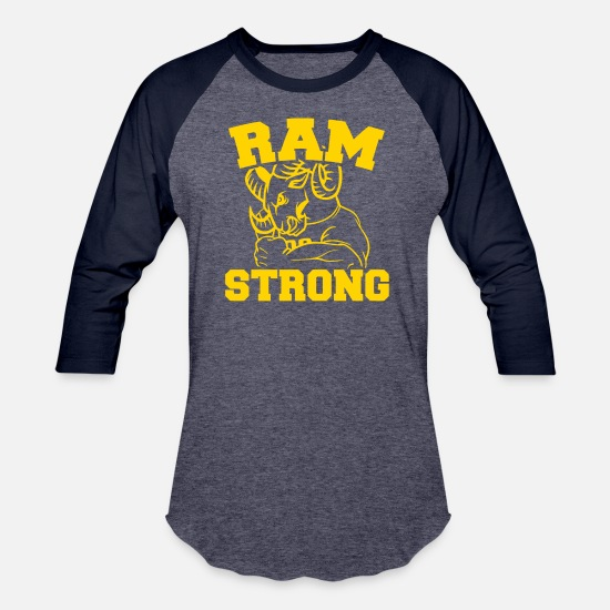 Strong T-Shirts - Ram Strong - Unisex Baseball T-Shirt heather blue/navy