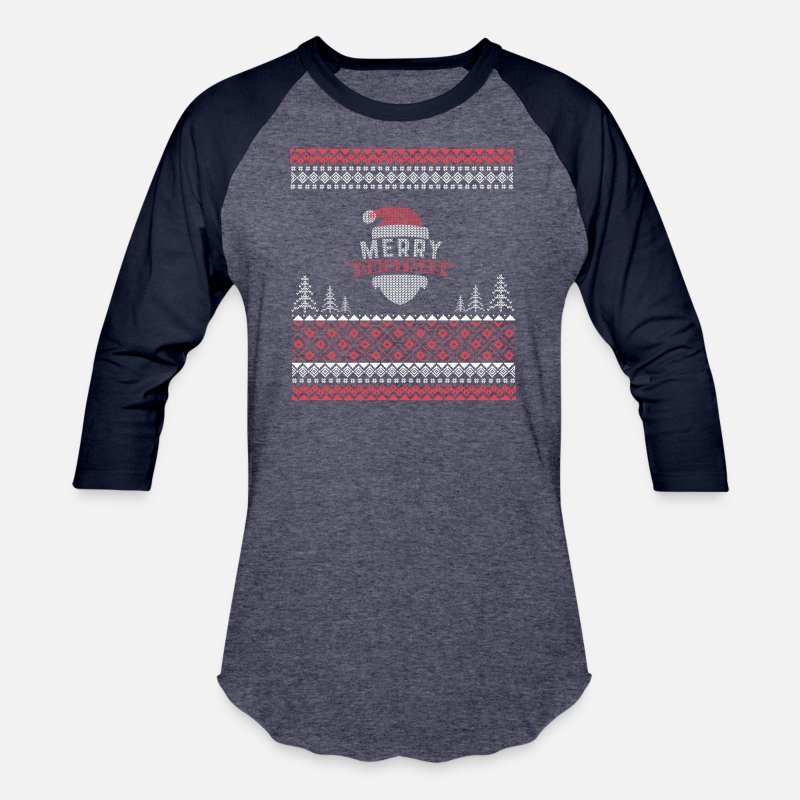 3e1a0e12cf30 Funny Ugly Cat Christmas sweater Unisex Baseball T-Shirt