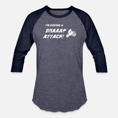 Attack Hit Braaap Attack Dirt Bike Clothing - Unisex Baseball T-Shirt