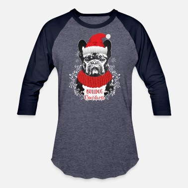 Bully Dog French Bulldog Christmas - XMAS - Baseball T-Shirt