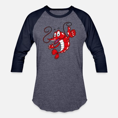 Seafood shrimp fresh seafood plankton animals wildlife art - Unisex Baseball T-Shirt