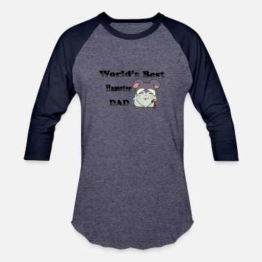 Hamster Daddy World`s best hamster dad - Baseball T-Shirt