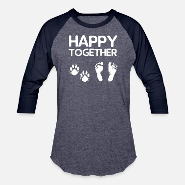 Togetherness Together - Happy together - Unisex Baseball T-Shirt