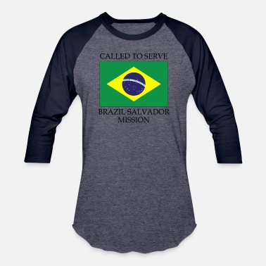Brazil Brazil Salvador LDS Mission Called to Serve Flag - Baseball T-Shirt