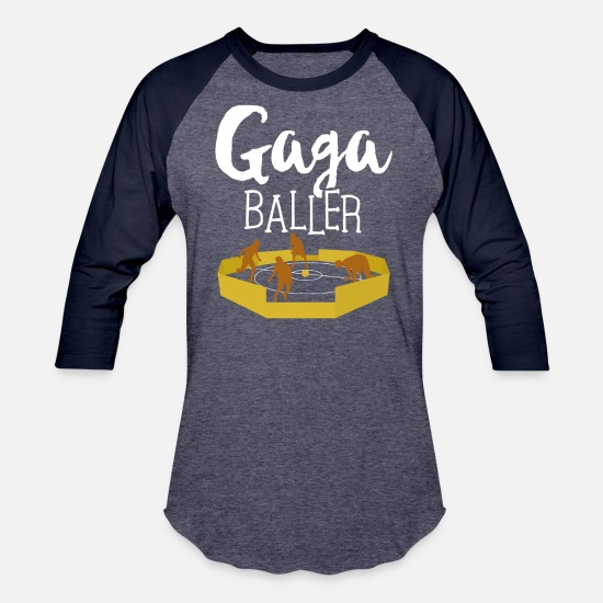 Play T-Shirts - GaGa Ball Shirt The Hexagon Octagon Pit Baller - Unisex Baseball T-Shirt heather blue/navy