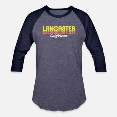 Retro Lancaster California - Unisex Baseball T-Shirt