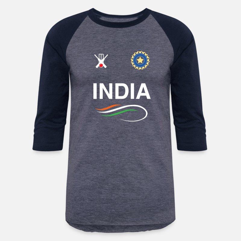 ed2d82afd Indian Cricket Team T-Shirt Fans Jersey Unisex Baseball T-Shirt ...