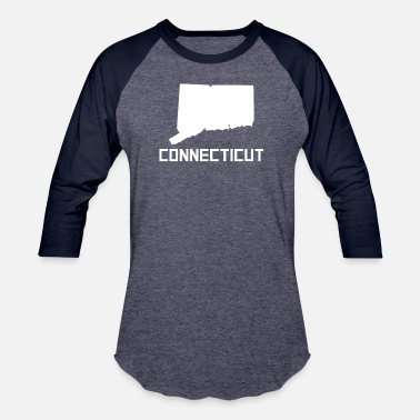 Connecticut State Connecticut State Silhouette - Baseball T-Shirt