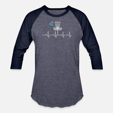 Disc Golf Heartbeat Disc golf heartbeat - Baseball T-Shirt