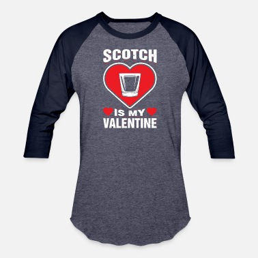 Blended Hearts Scotch Is My Valentine's Day Whisky Blended - Baseball T-Shirt