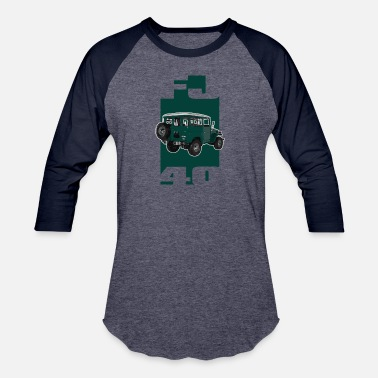 Toyota Mr2 GREEN Toyota FJ40 Landcruiser - Unisex Baseball T-Shirt