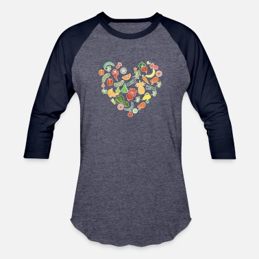 Heart Health Health Nutrition in a Heart - Baseball T-Shirt