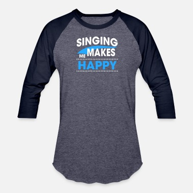 Singing Voice SINGING - Unisex Baseball T-Shirt