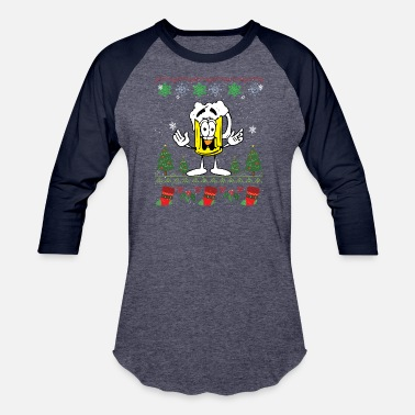 Beer Ugly BEER Ugly Christmas Sweater - Baseball T-Shirt