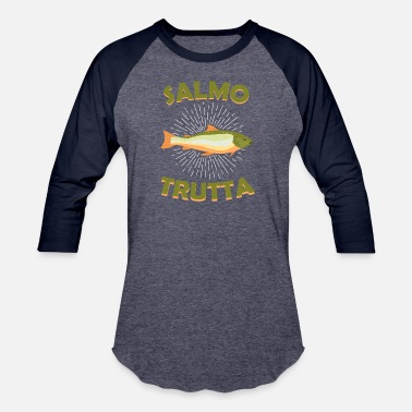 Salmon Trout salmo trutta salmon trout fishing fly gift present - Baseball T-Shirt