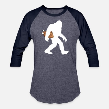 Bigfoot Thanksgiving Day Funny Thanksgiving Bigfoot Turrkey T-shirt - Unisex Baseball T-Shirt