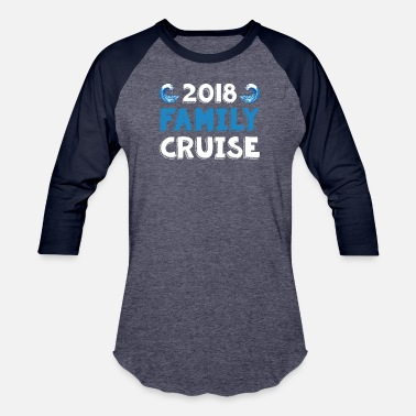 Cruise 2018 Family Cruise T-Shirt Cool Waves Cruising - Baseball T-Shirt