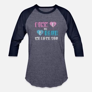 Baby Feet pink or blue we love you - Baseball T-Shirt