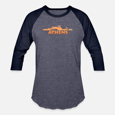 Greece Athens, Greece City Skyline - Unisex Baseball T-Shirt
