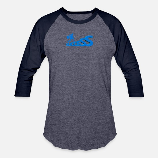 Motivation T-Shirts - Success - Unisex Baseball T-Shirt heather blue/navy