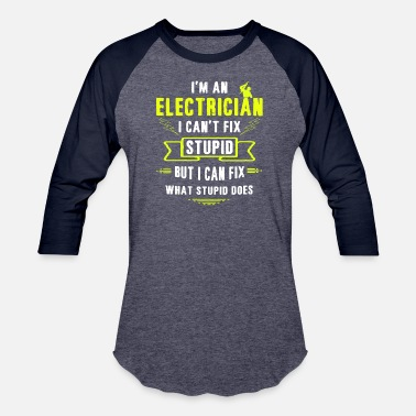 Apprentice Electrician TShirt Electrical Worker Gift - Unisex Baseball T-Shirt