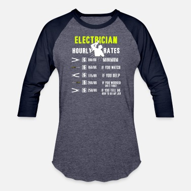 Apprentice Funny Electricians T-Shirt Electricity Lineman Tee - Unisex Baseball T-Shirt