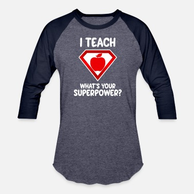 Grade I Teach School Teacher Superpower Superhero Profes - Unisex Baseball T-Shirt