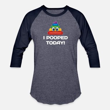 Pop Culture I Pooped Today Funny joke Pop Culture - Unisex Baseball T-Shirt