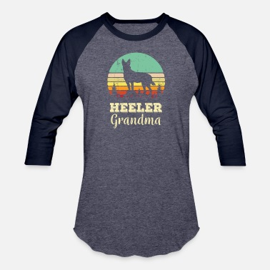 Dog Heeler Grandma Shirt - Australian Cattle Dog Lover - Unisex Baseball T-Shirt