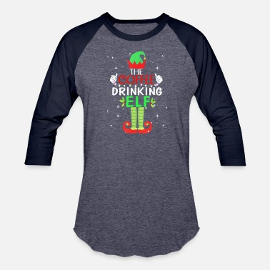 The Coffee Drinking Elf Matching Family - Unisex Baseball T-Shirt