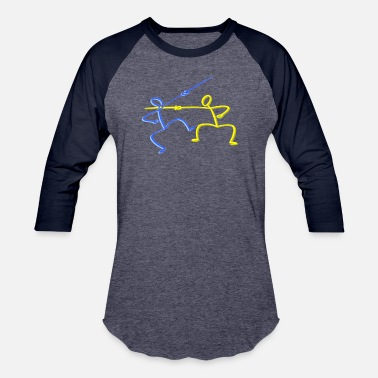 Stick-people Fencing Stick people gifts - Unisex Baseball T-Shirt