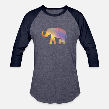 Computer Art Elephant Mosaik Art Digital Computer - Baseball T-Shirt