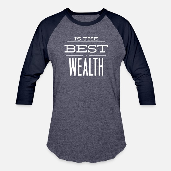 Wealth T-Shirts - Is The Best Wealth - Unisex Baseball T-Shirt heather blue/navy