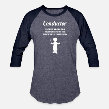 Orchestra Conductor Problems Choir Orchestra Music Singer Si - Baseball T-Shirt