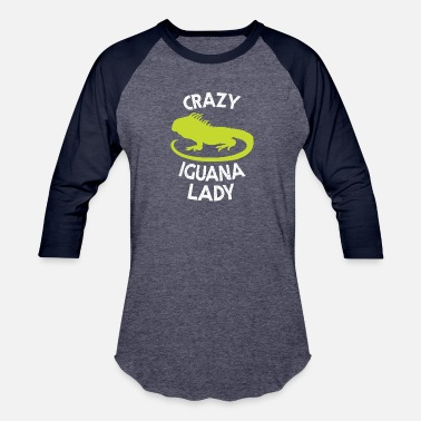 Crazy Reptile Lady Crazy Iguana Lady Cute Reptile Women - Baseball T-Shirt