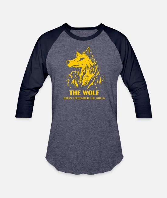 The Office T-Shirts - the wolf not circus 7 - Unisex Baseball T-Shirt heather blue/navy