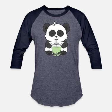 Milk Tea Panda Milk Tea - Baseball T-Shirt